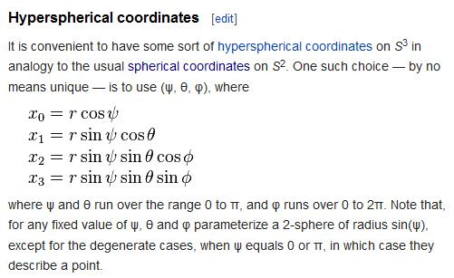 Hyperspherical coordinates